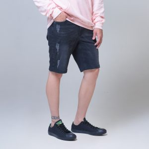Bermuda Masc Jeans Preta