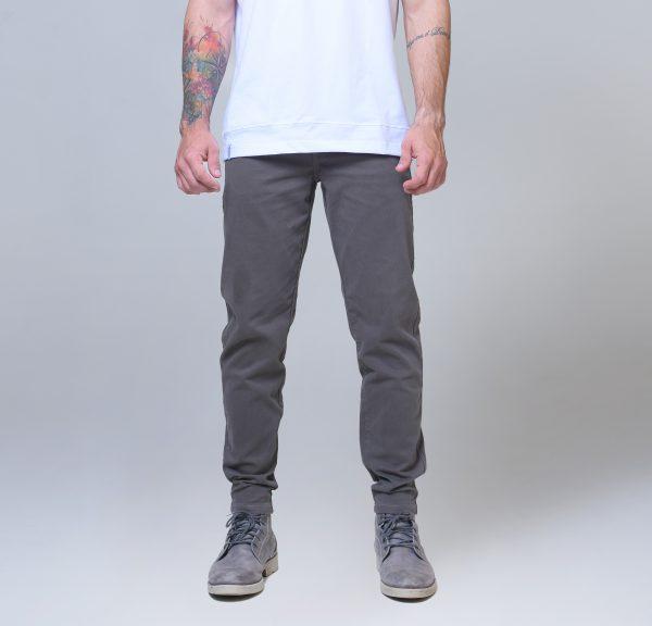 calça sarja cinza