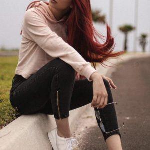 Cigarrete Fem Jeans Skinny Zíper