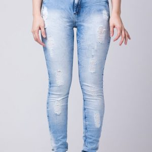 Cigarrete Fem Jeans Destroyed