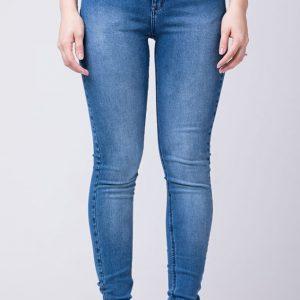 Cigarrete Fem Jeans Azul Claro